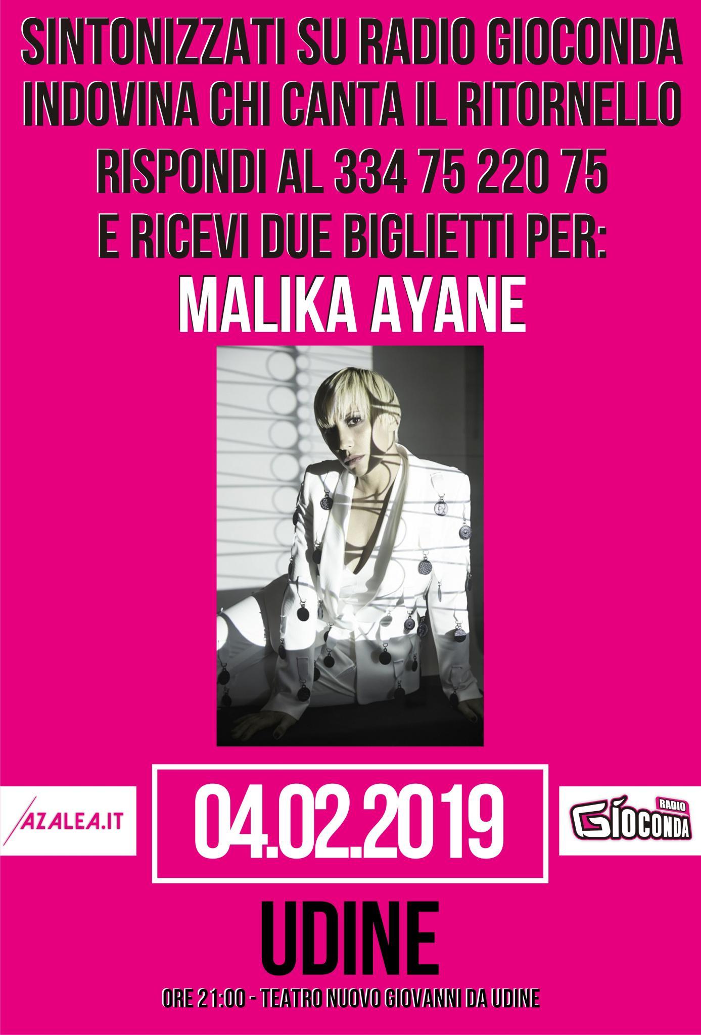 Indovina Indovinello Malika Ayane Udine
