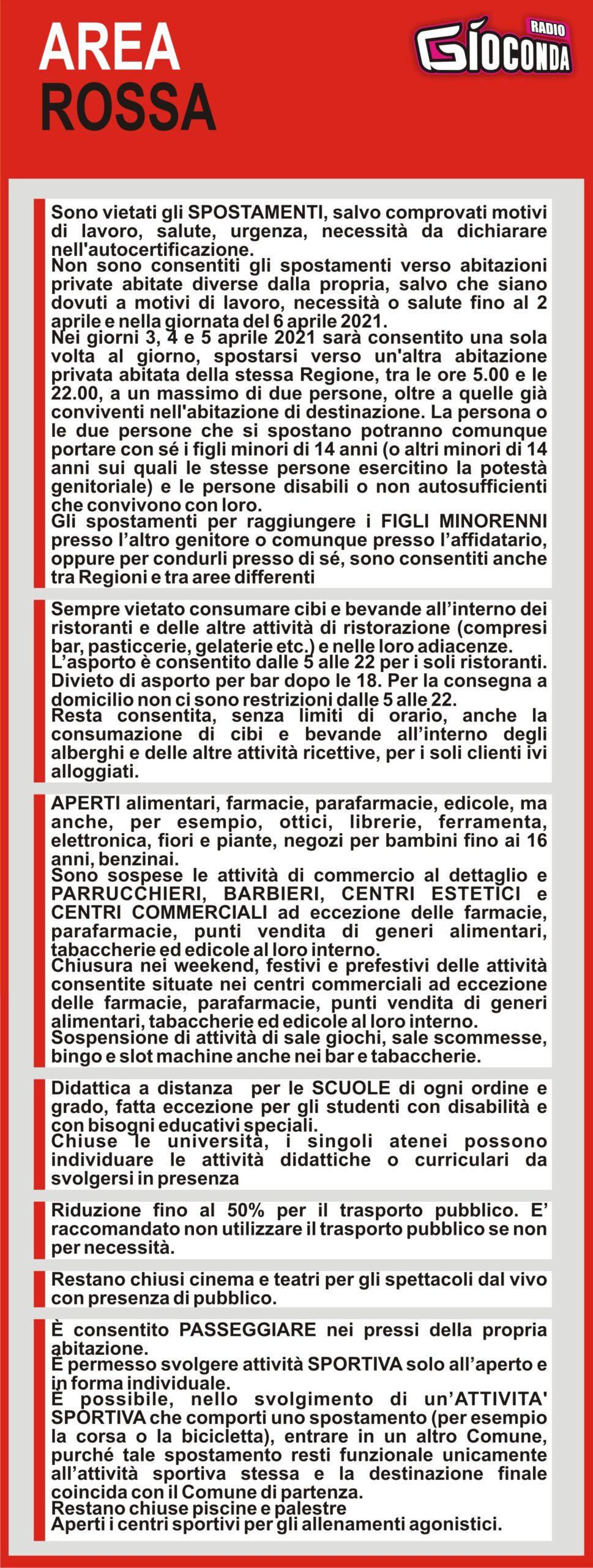 Il Friuli Venezia Giulia è AREA ROSSA