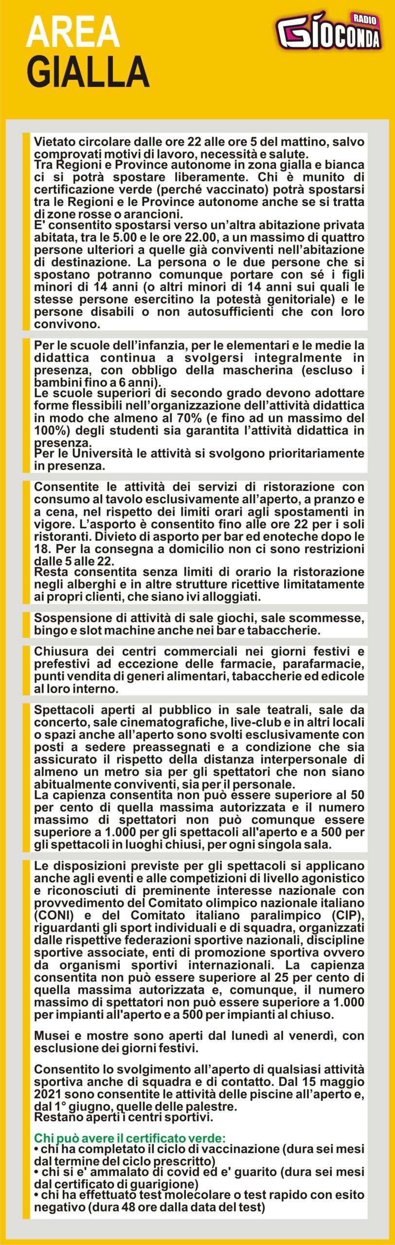 Il Friuli Venezia Giulia dal 26 aprile è in AREA GIALLA #covid19 #covid #regionefriuliveneziagiulia