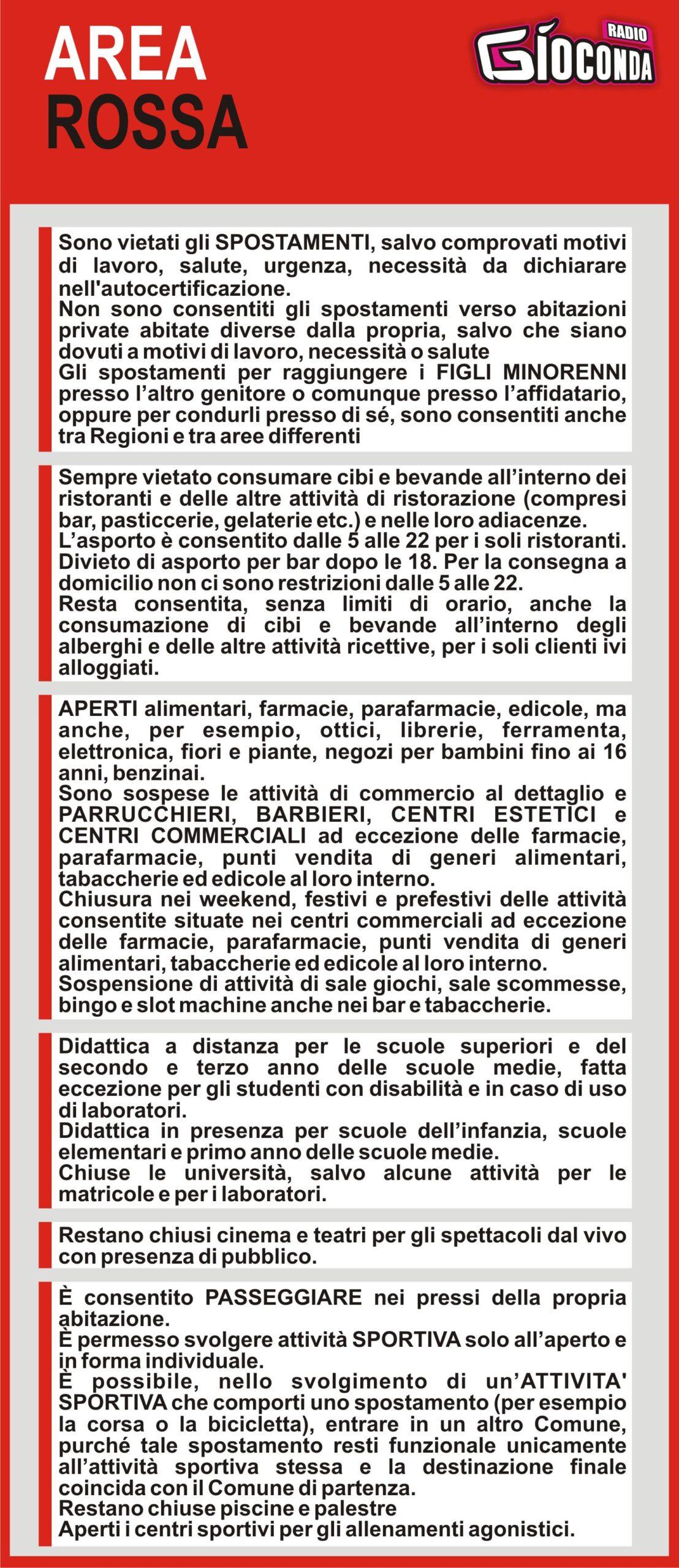 Aprile 2021 il Friuli Venezia Giulia è AREA ROSSA