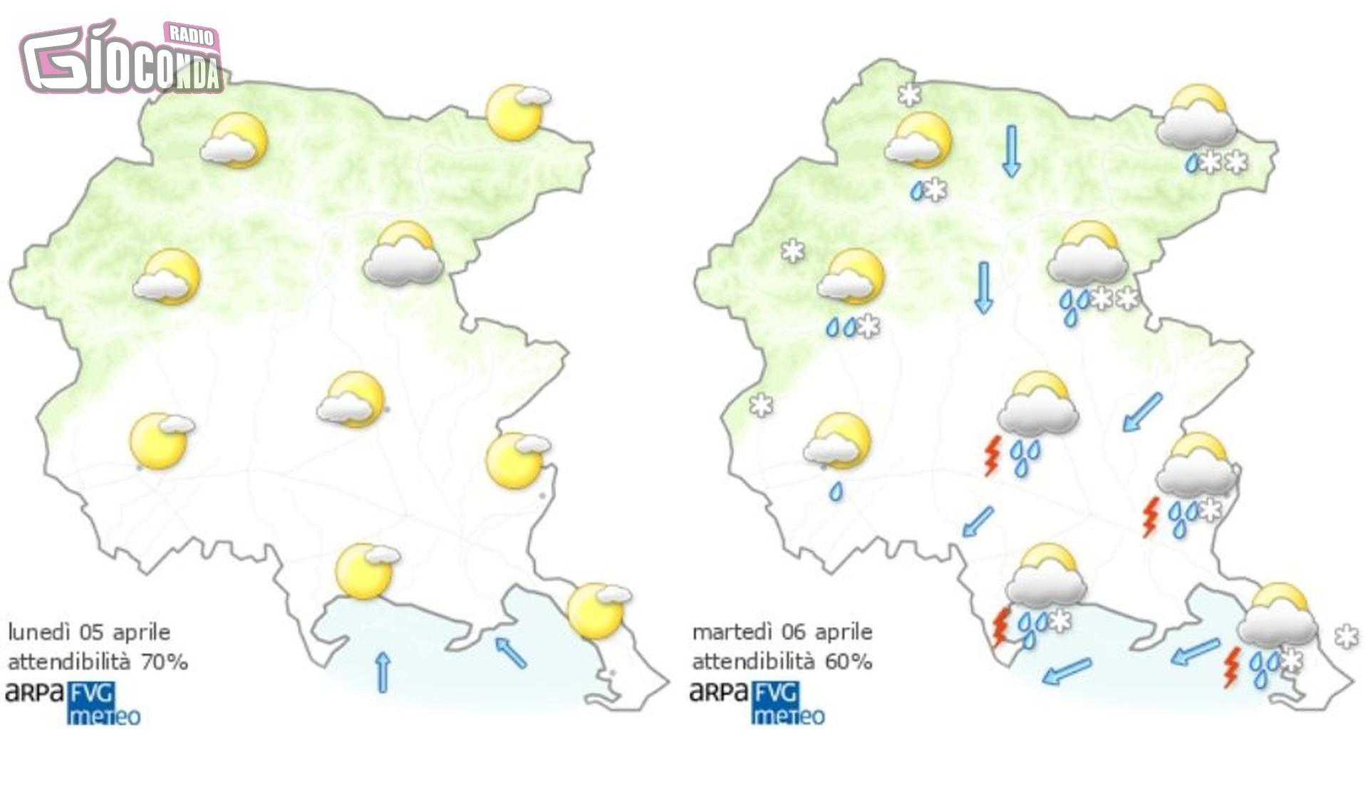 Ritornano freddo e neve in Friuli Venezia Giulia